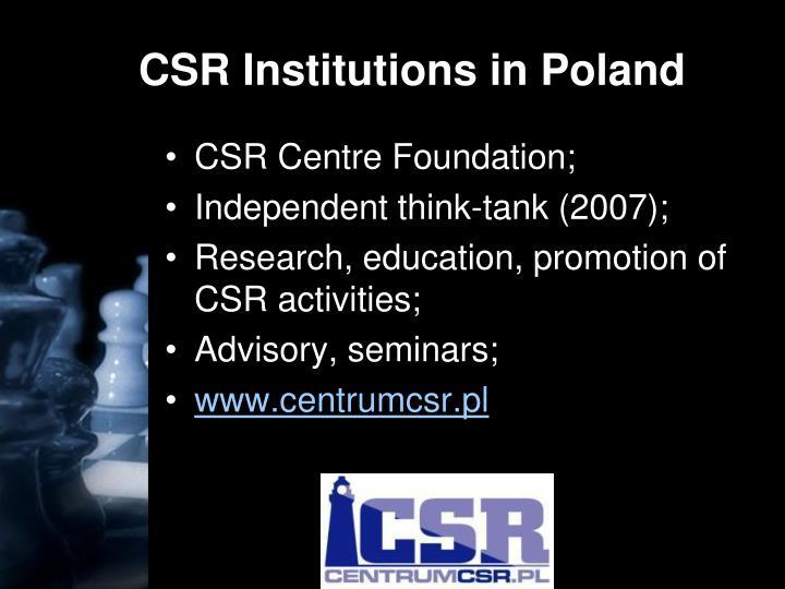 CSR Institutions in Poland