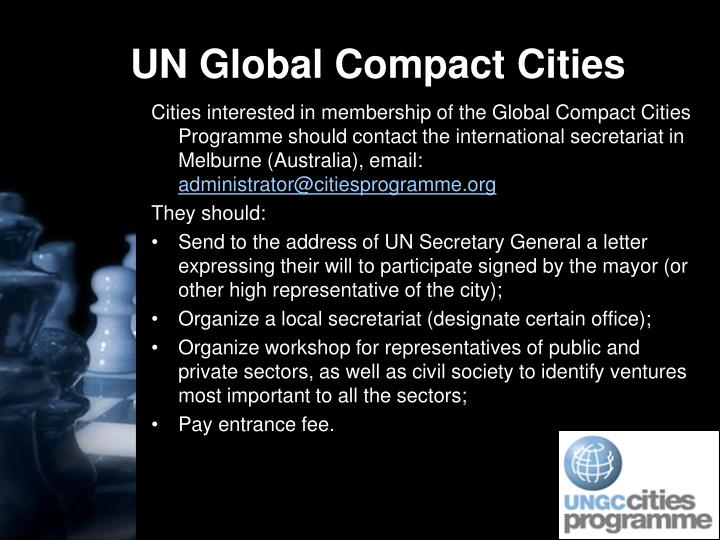 UN Global Compact Cities