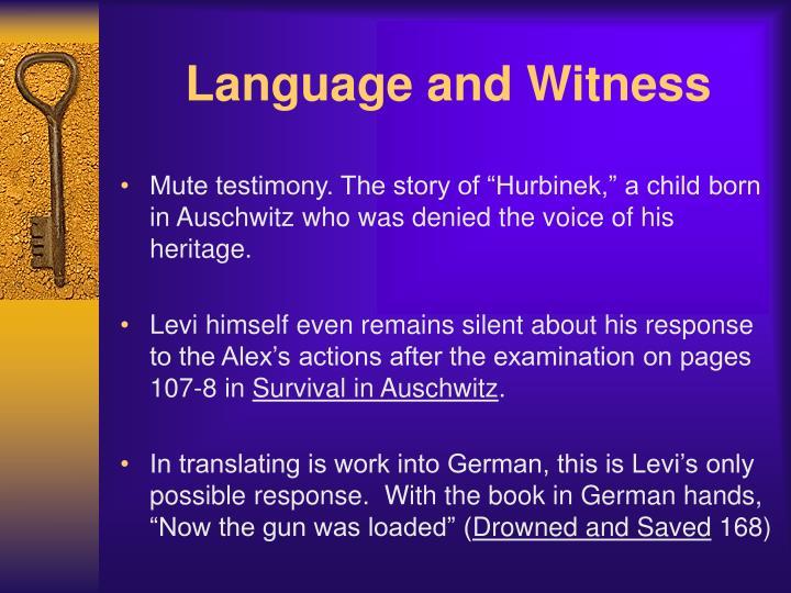 Language and Witness