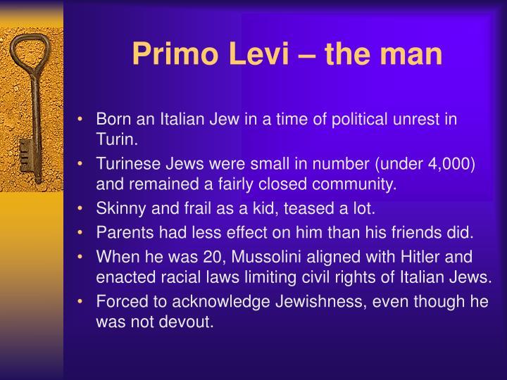 Primo levi the man