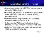 manhattan landing recap
