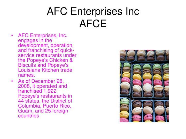 AFC Enterprises Inc