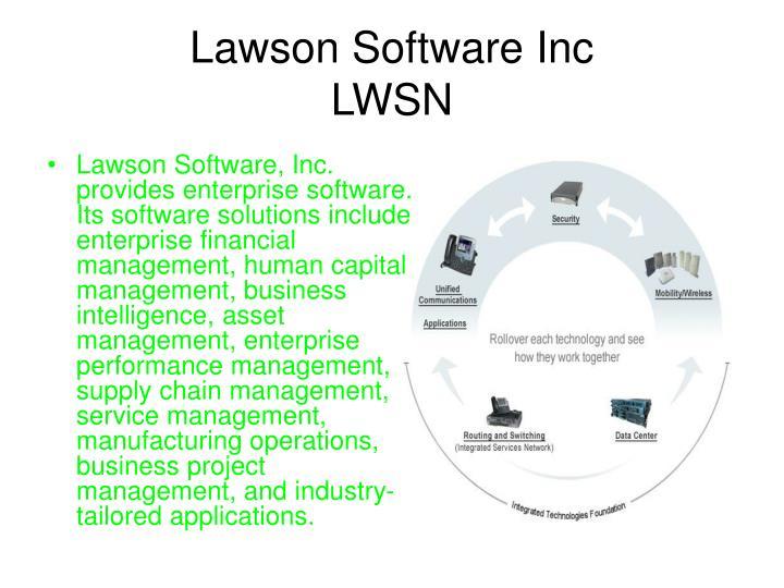Lawson software inc lwsn