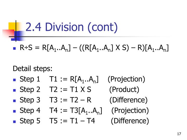 2.4 Division (cont)