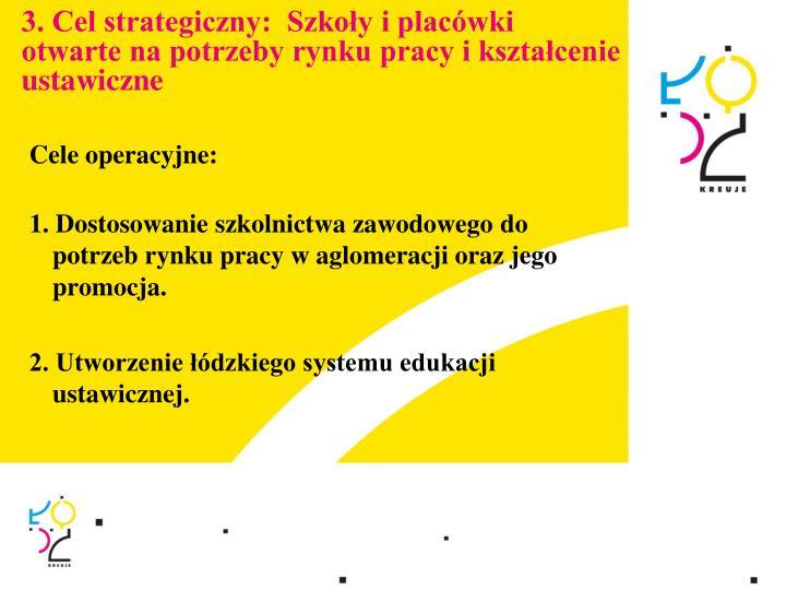 3. Cel strategiczny:  Szkoły i placówki