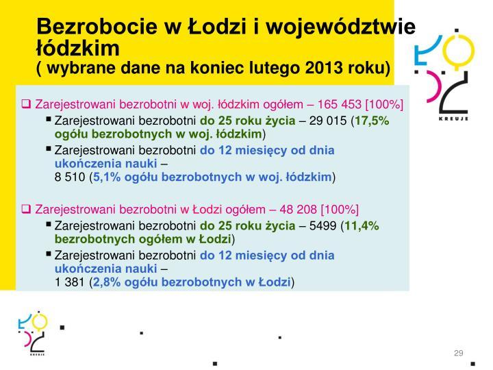 Bezrobocie w Łodzi i województwie łódzkim