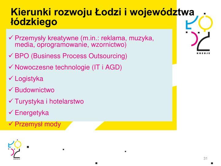 Kierunki rozwoju Łodzi i województwa łódzkiego