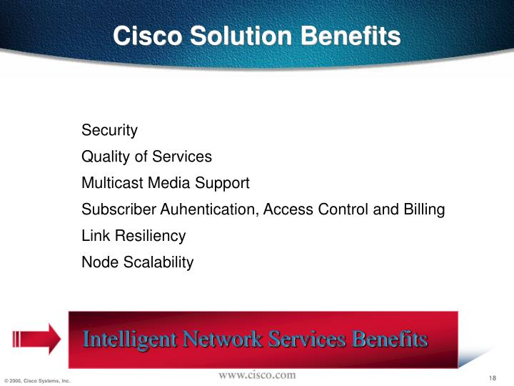 Cisco Solution Benefits