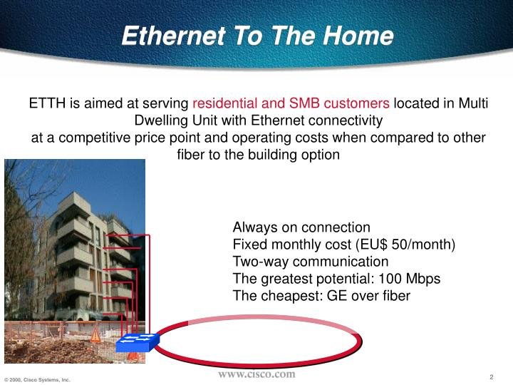 Ethernet to the home1