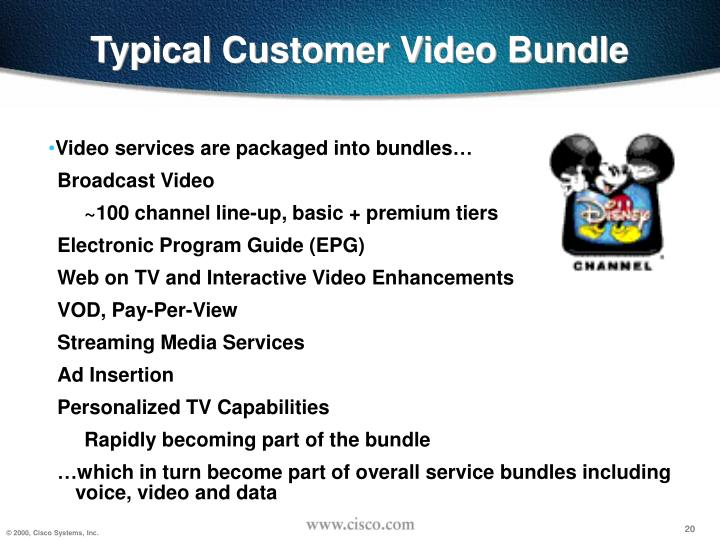 Typical Customer Video Bundle