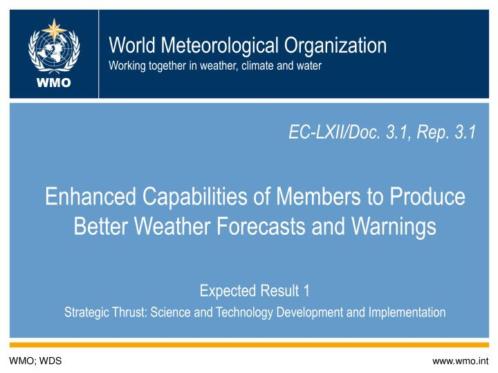 world meteorological organization working together in weather climate and water n.