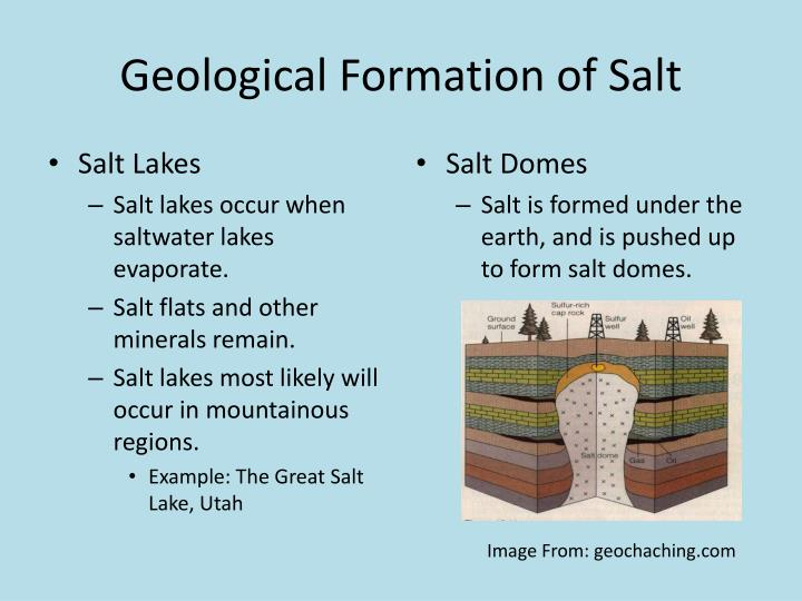 Geological Formation of Salt