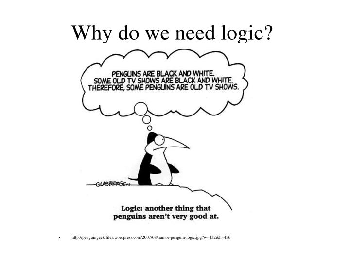 Why do we need logic?
