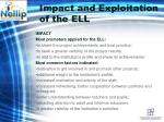 impact and exploitation of the ell