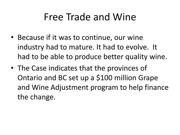Free Trade and Wine