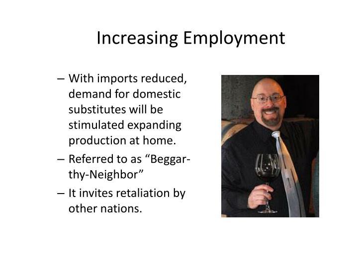 Increasing Employment