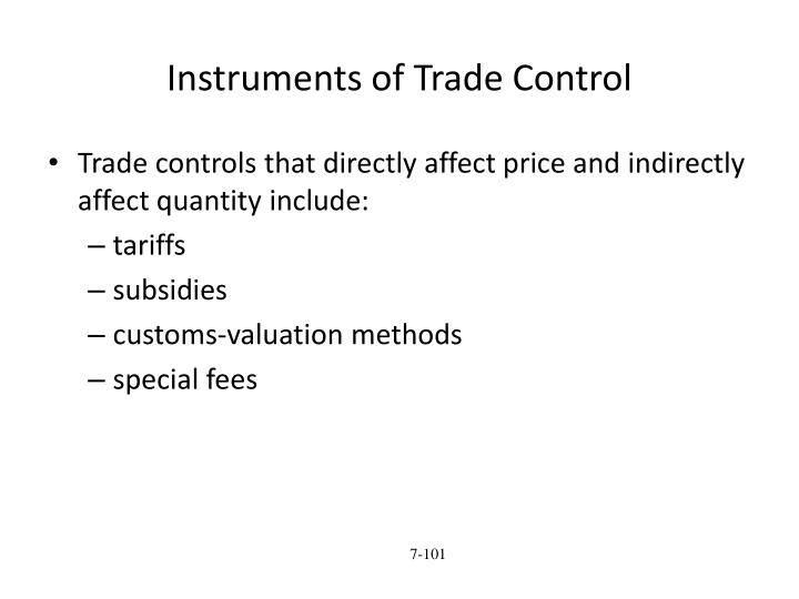 Instruments of Trade Control
