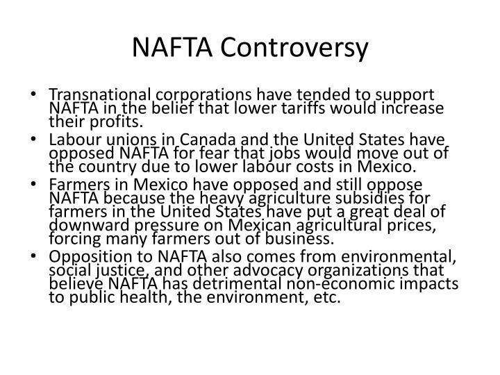 NAFTA Controversy