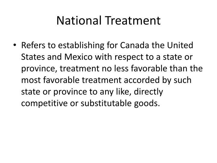 National Treatment