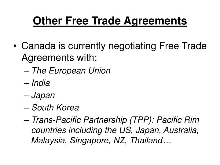 Other Free Trade Agreements