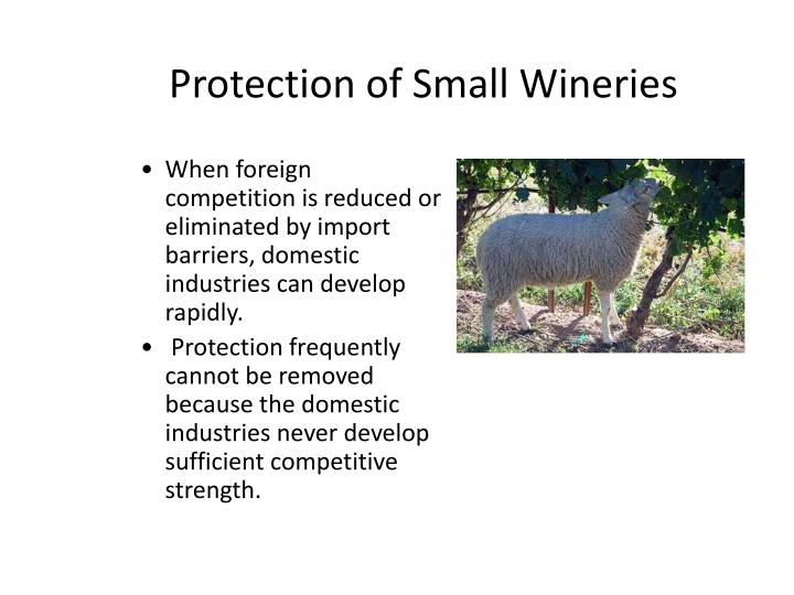 Protection of Small Wineries