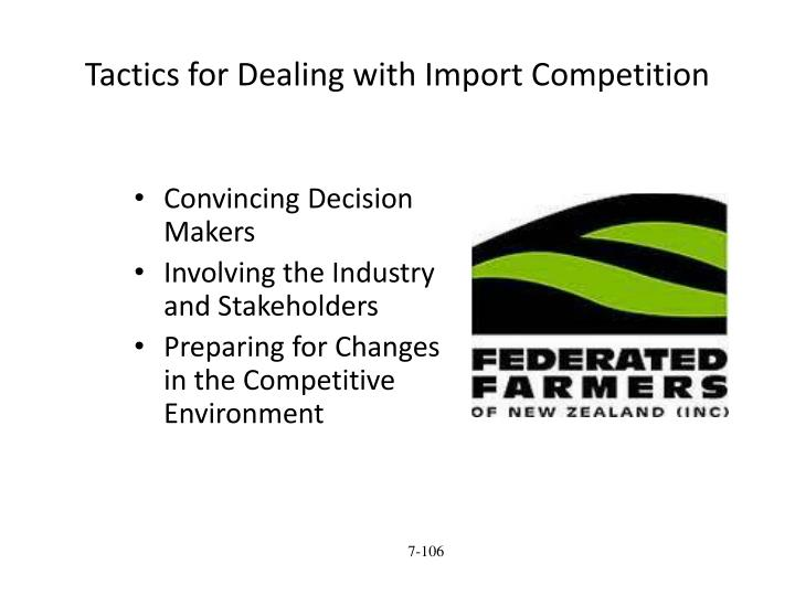 Tactics for Dealing with Import Competition