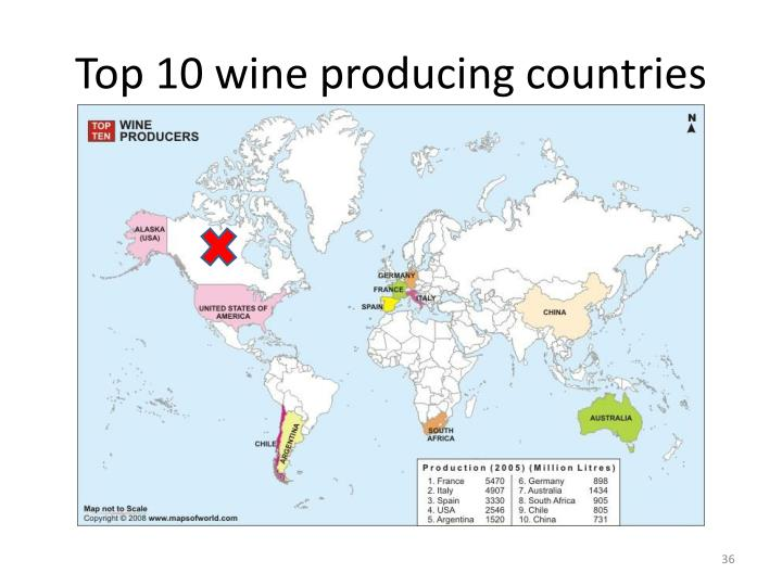 Top 10 wine producing countries