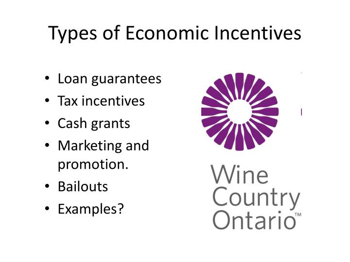 Types of Economic Incentives