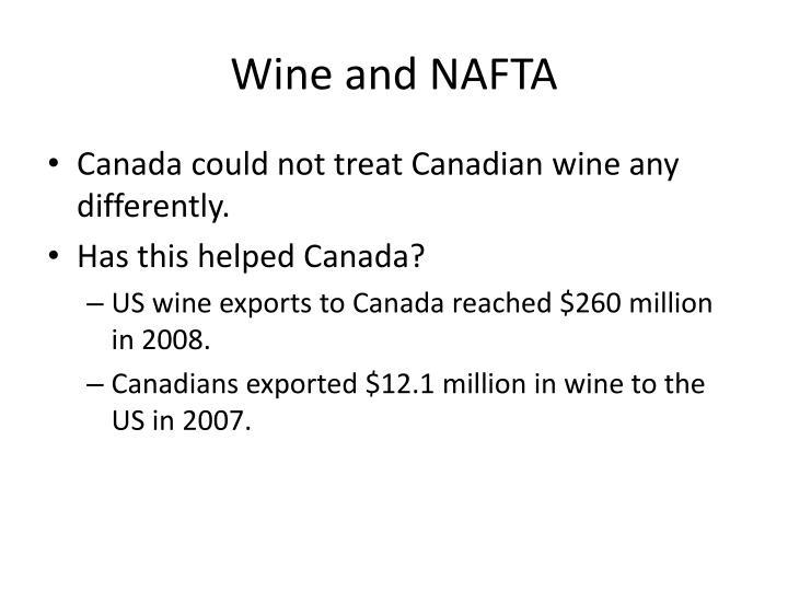 Wine and NAFTA