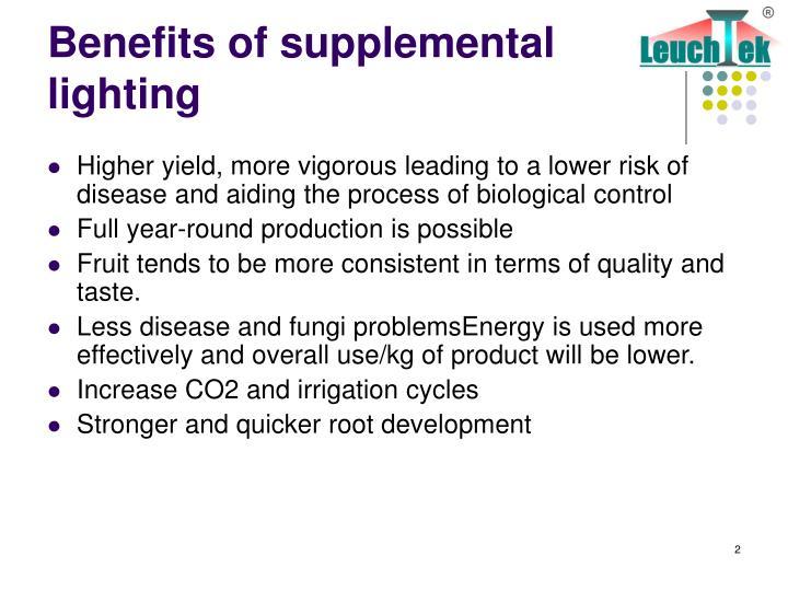 Benefits of supplemental lighting