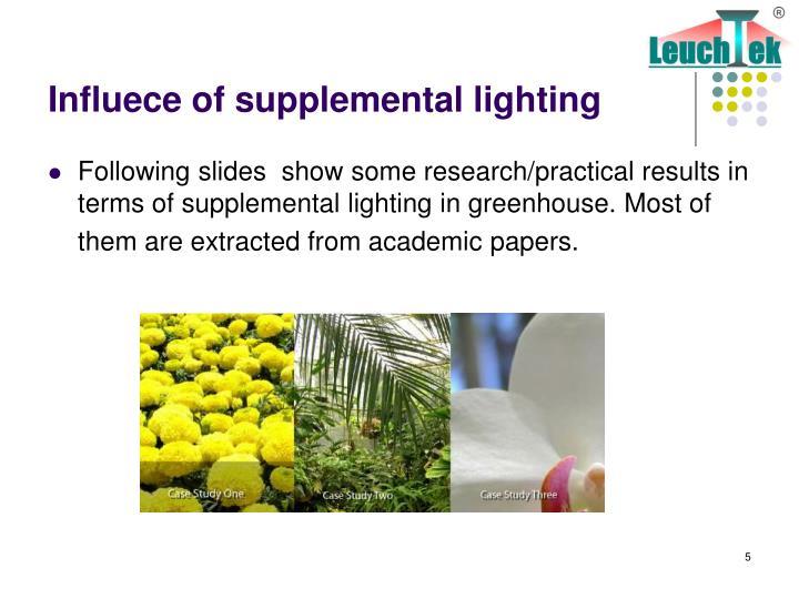 Influece of supplemental lighting