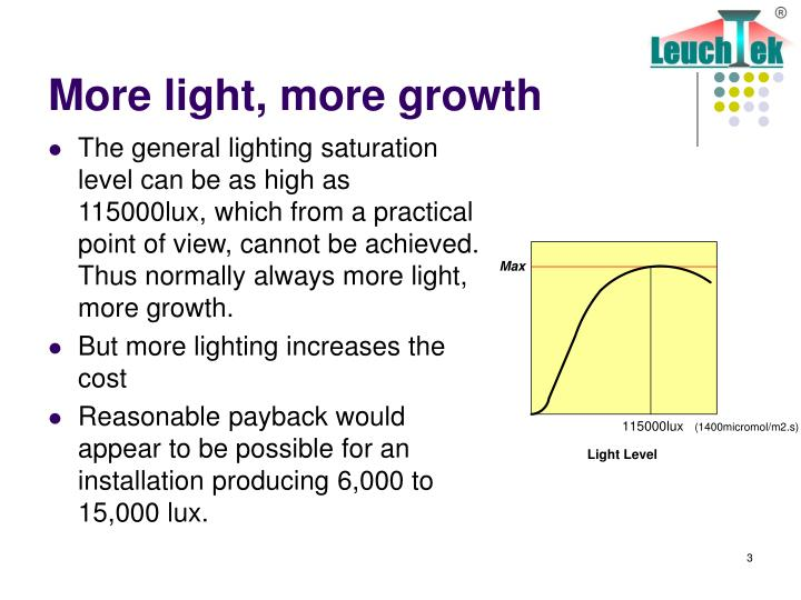 More light more growth
