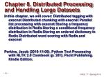 chapter 8 distributed processing and handling large datasets