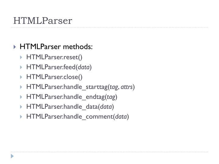 HTMLParser