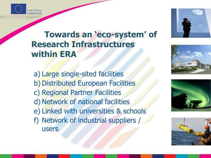 Towards an 'eco-system' of Research Infrastructures within ERA
