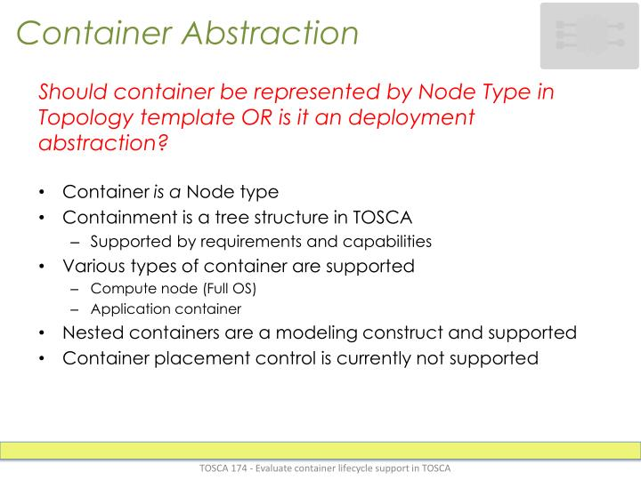 Container abstraction