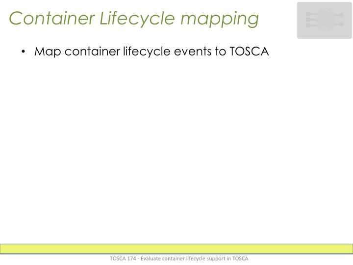 Container Lifecycle mapping