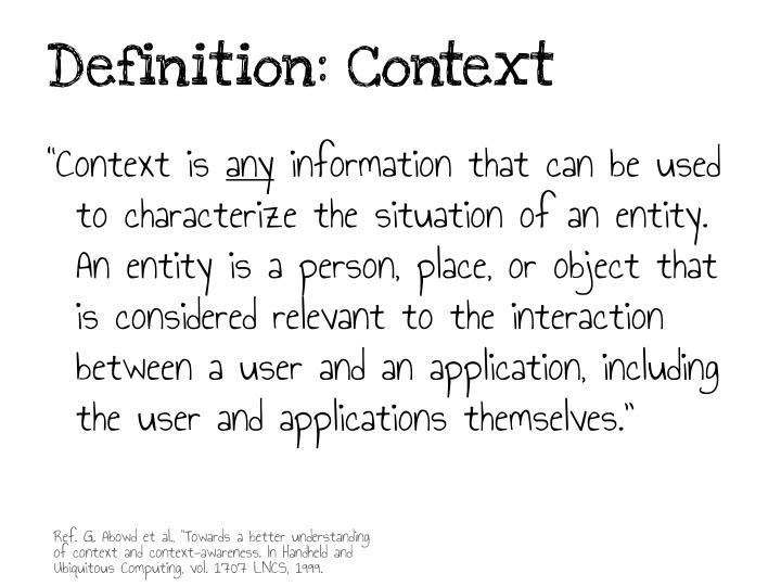 Definition context