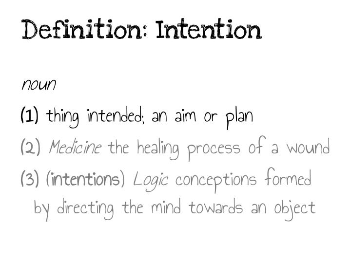 Definition: Intention