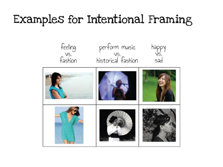 Examples for Intentional Framing