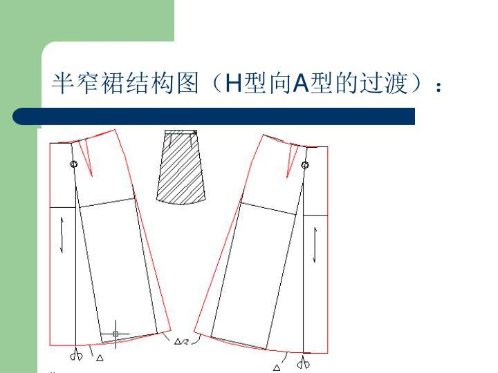 半窄裙结构图(