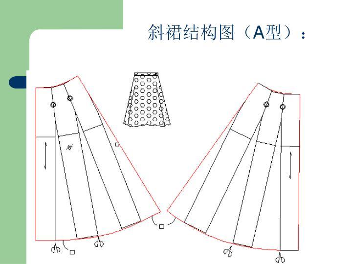斜裙结构图(