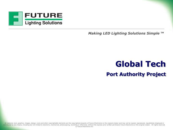 Global tech port authority project