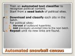 automated snowball census