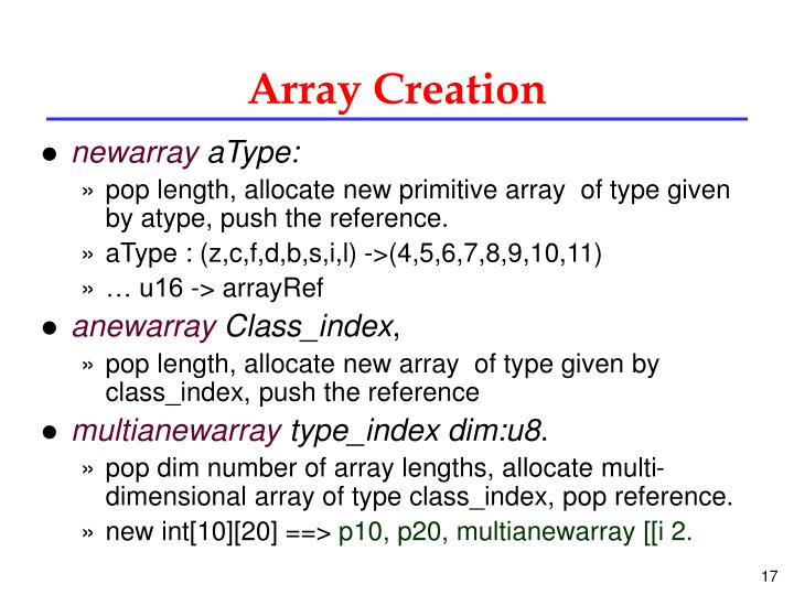 Array Creation