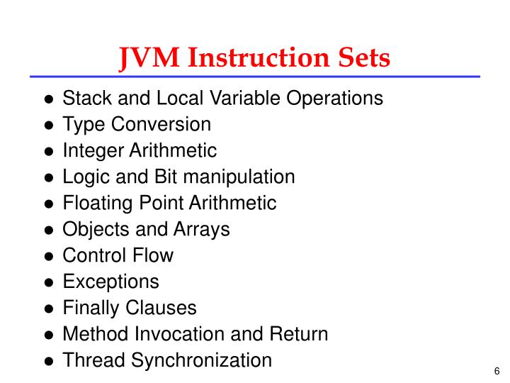 JVM Instruction Sets
