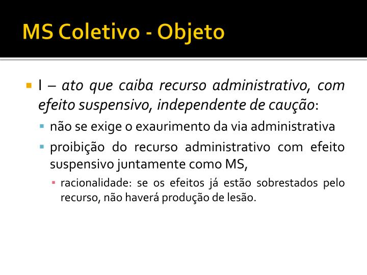 MS Coletivo - Objeto