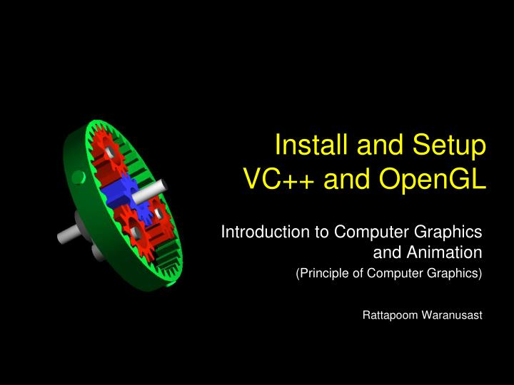install and setup vc and opengl n.