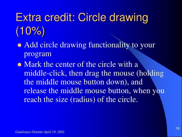 Extra credit: Circle drawing (10%)