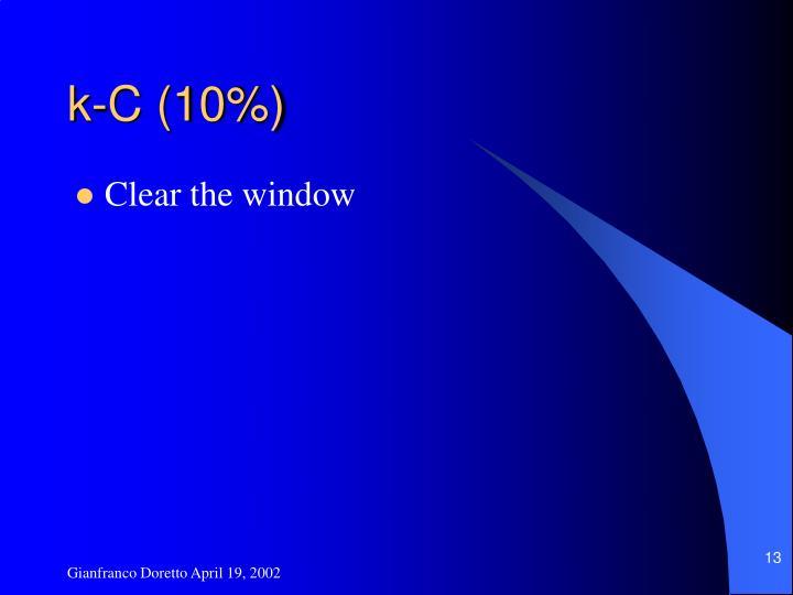 k-C (10%)
